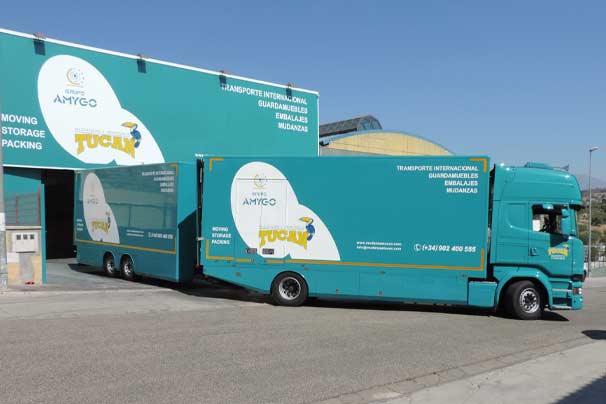 Nuestra flota de vehículos de transporte